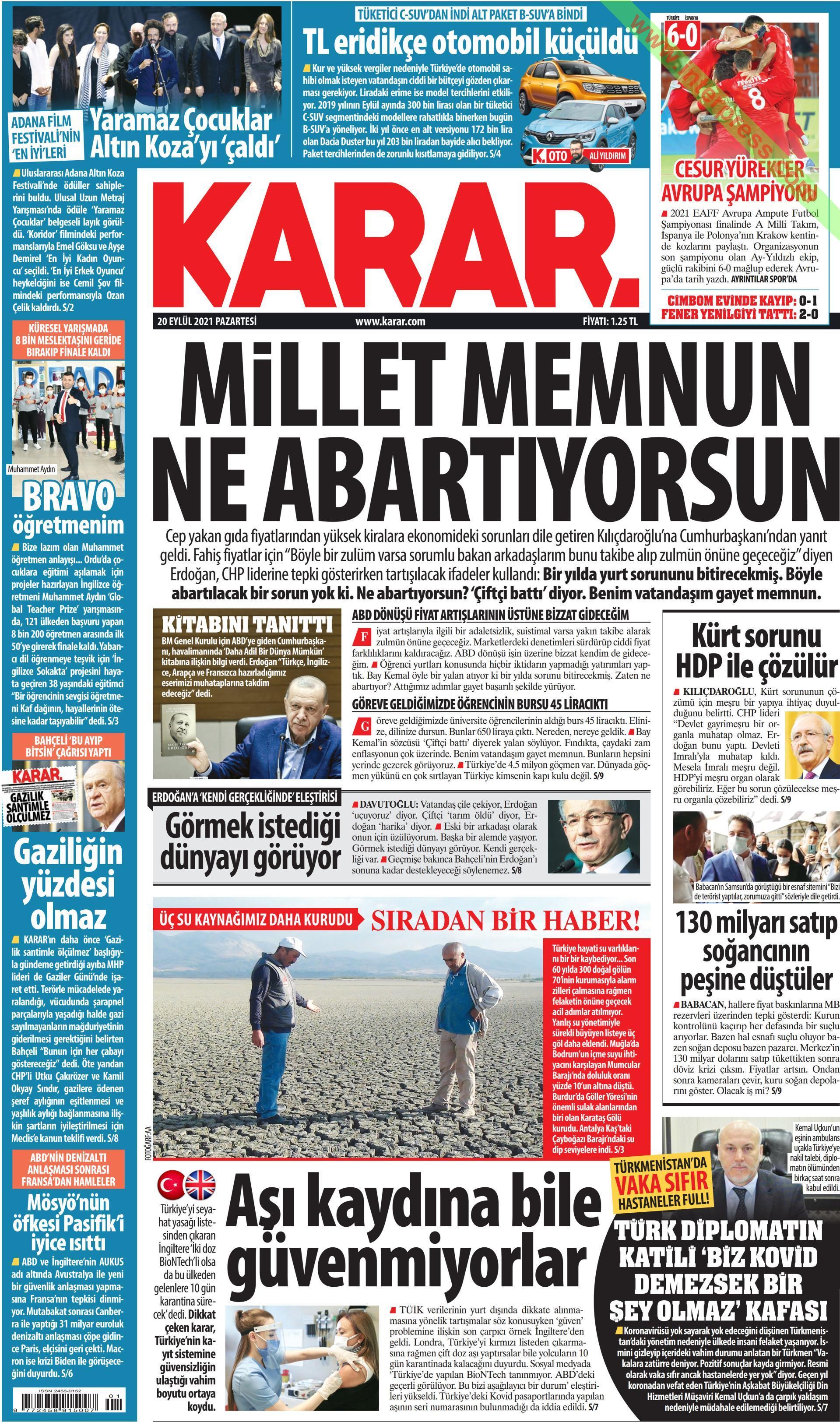 Karar gazetesi oku