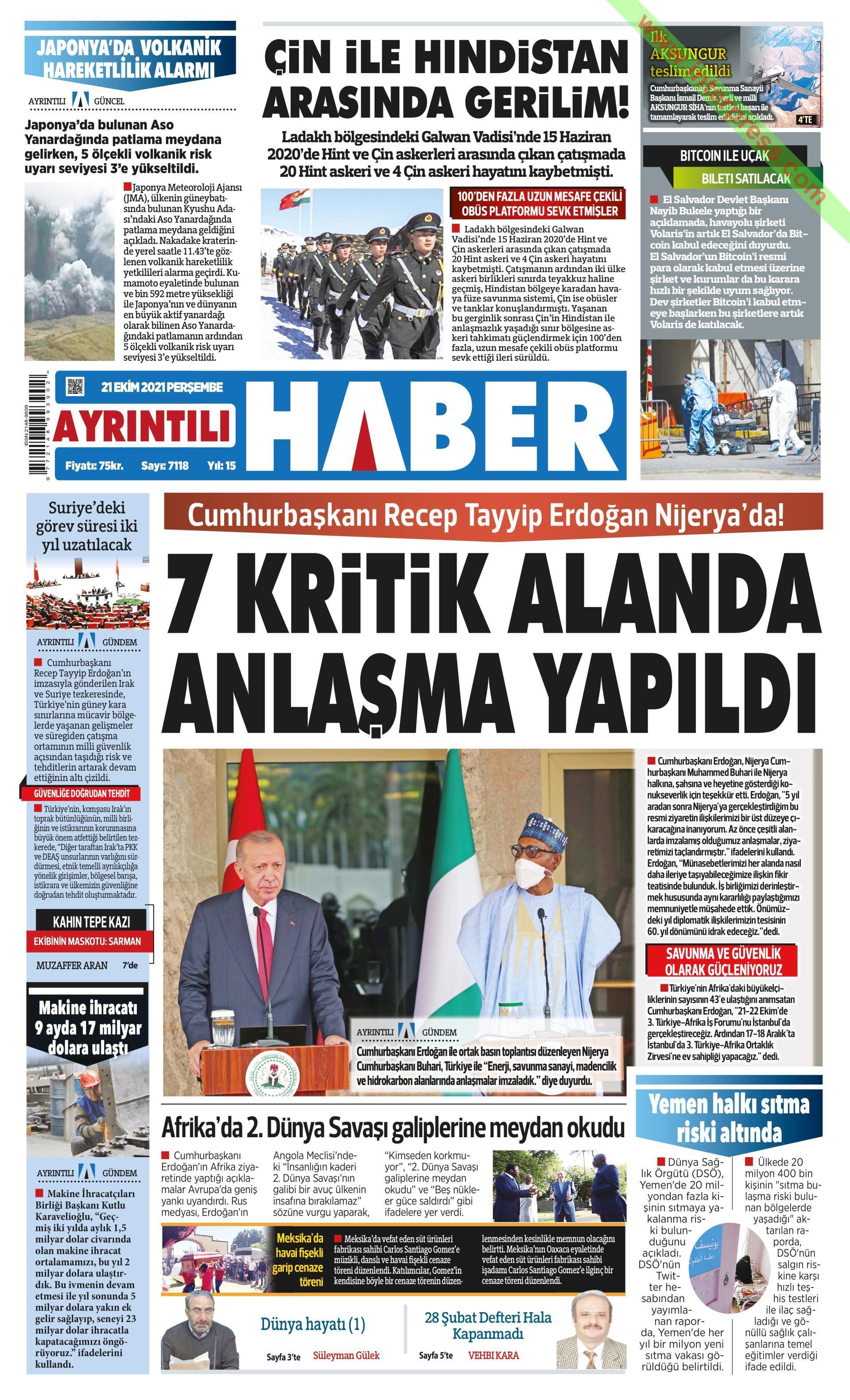 Ayrıntılı Haber gazetesi oku