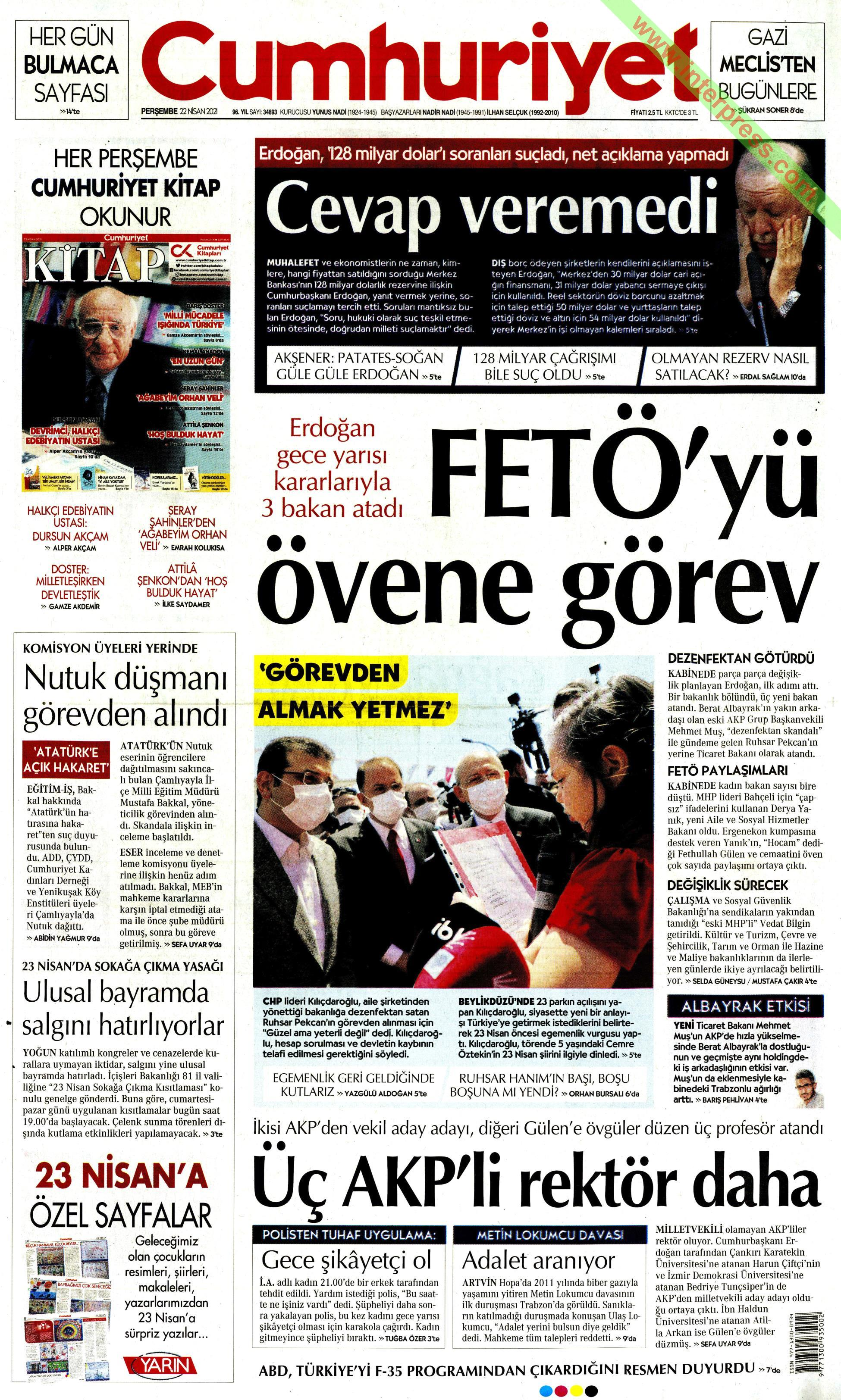 Cumhuriyet gazetesi oku