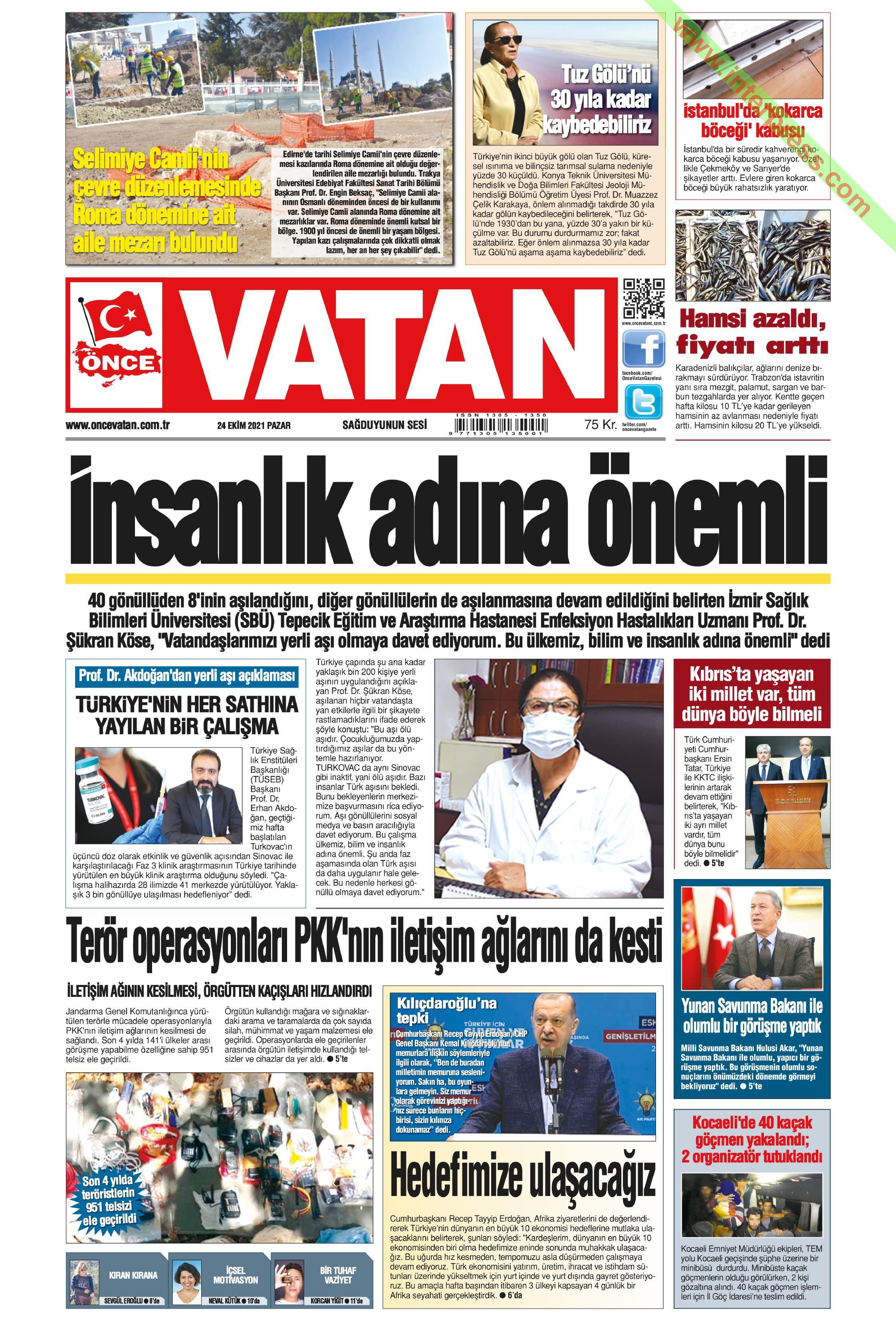Önce Vatan gazetesi oku