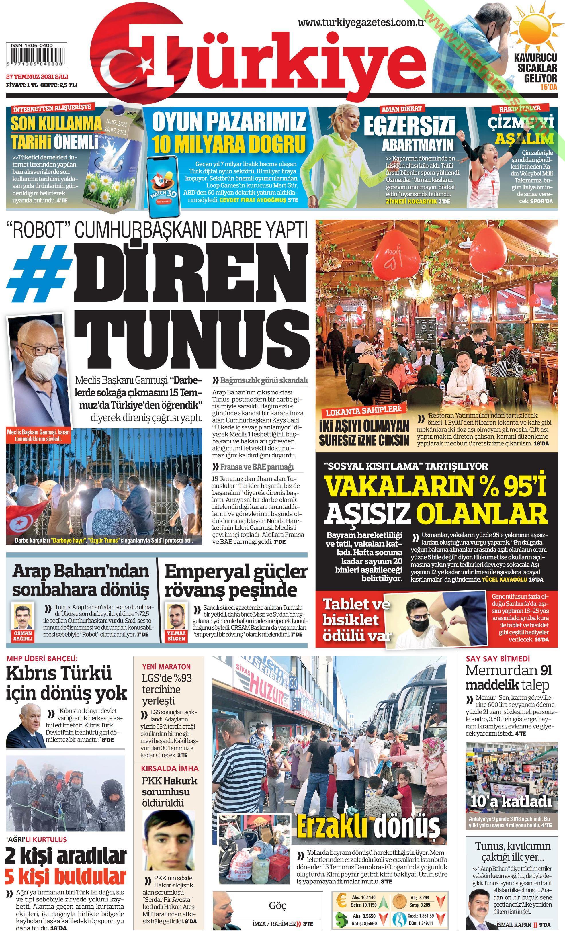 Türkiye gazetesi oku